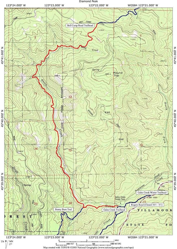 gales creek oregon map Gales Creek Map Forest Grove Or Natural Atlas gales creek oregon map