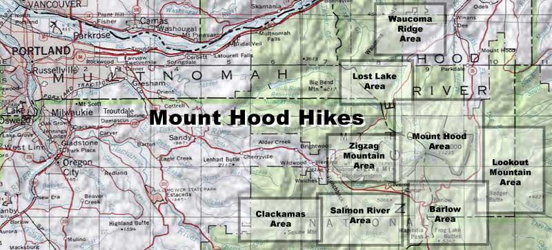 Mount Hood Hikes Hiking In Portland Oregon And Washington - Oregon hiking trails map