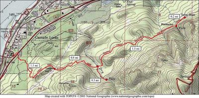 Cascade Locks Fire Map.Dry Creek Falls Hike Hiking In Portland Oregon And Washington