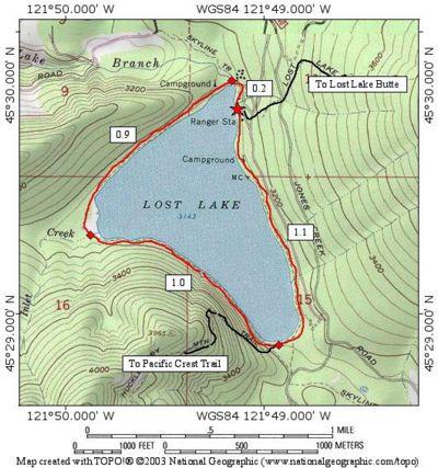 Lost Lake Campground Map Lost Lake Loop Hike   Hiking in Portland, Oregon and Washington