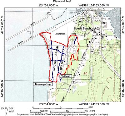 Cooper RidgeSouth Beach Loop Hike Hiking In Portland Oregon - Map of south oregon