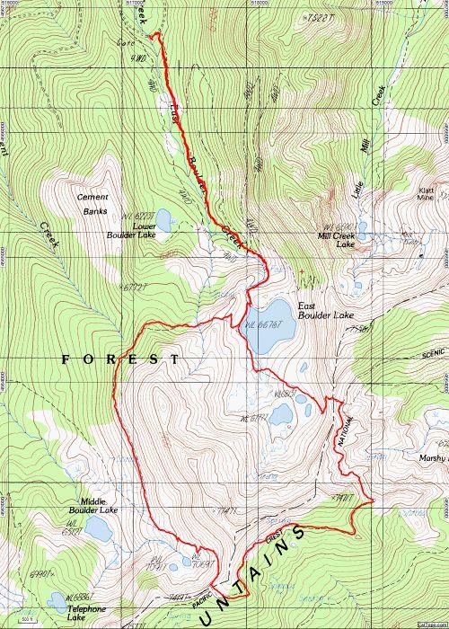 East Boulder Lake Loop Hike - Hiking in Portland, Oregon and Washington