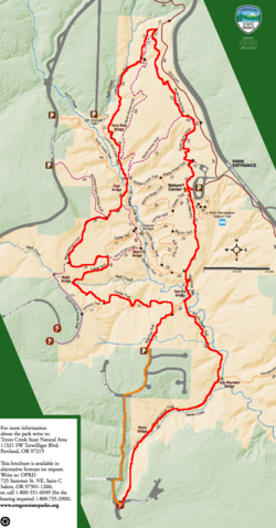 Tryon Creek State Park Map Tryon Creek Outer Loop Hike   Hiking in Portland, Oregon and  Tryon Creek State Park Map