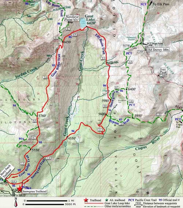 pct oregon map with Goat Lake Loop Hike on CDT Maps By Jonathan Ley in addition Map Of California also Pacific Crest Scenic Trail moreover Pct Or Section D Highway 138 To Highway 58 Willamette Pass additionally 2.