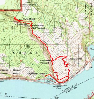 Coyote Wall Hike - Hiking in Portland, Oregon and Washington on