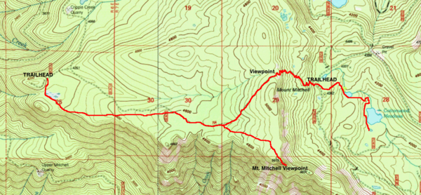 Mount Mitchell-Cottonwood Meadows Hike - Hiking in ...