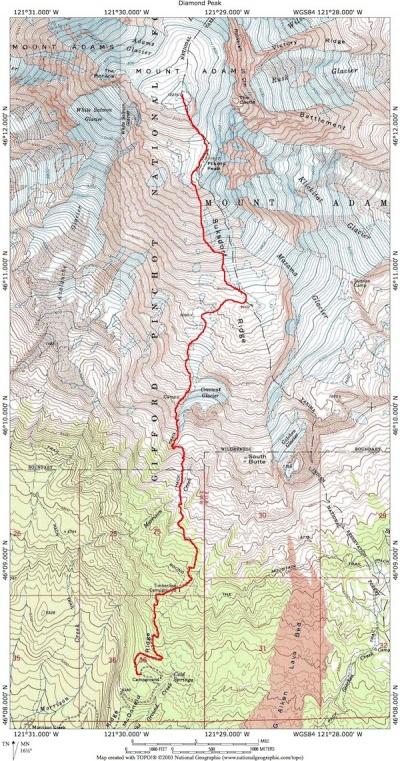 Mt Adams Washington Map.Mount Adams Summit Hike Hiking In Portland Oregon And Washington