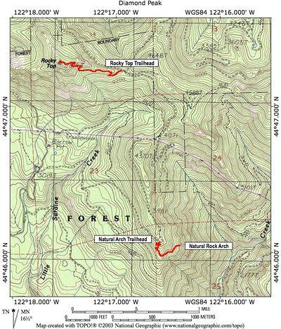 Lyons Oregon Map.Rocky Top Hike Hiking In Portland Oregon And Washington