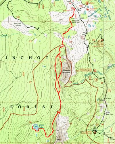 Wood Mountain Elevation : Wood lake via sawtooth mountain hike hiking in portland