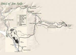 Trail Of Ten Falls Loop Hike Hiking In Portland Oregon And - Oregon waterfalls map