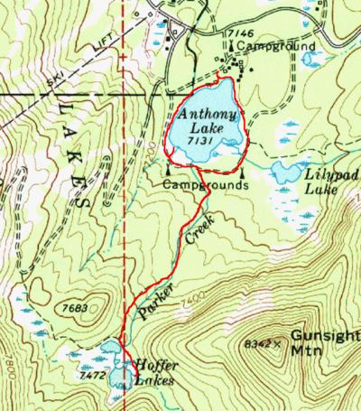 Hoffer Lakes Hike Hiking In Portland Oregon And Washington - Oregon lakes map