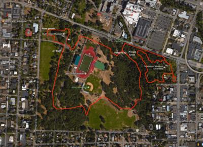 Salem Oregon Map Google.Bush S Pasture Loop Hike Hiking In Portland Oregon And Washington