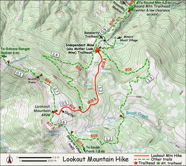 Lookout Mountain Hike Hiking In Portland Oregon And Washington - Oregon hiking trails map