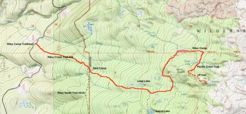 Mt Adams Washington Map.Riley Camp To Crystal Lake Hike Hiking In Portland Oregon And