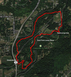 Lewisville Park Loop Hike Hiking in Portland Oregon and Washington