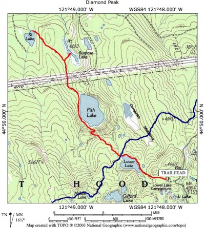 Fish LakeSi Lake Hike Hiking In Portland Oregon And Washington - Map of oregon lakes